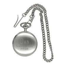 Monogrammed Personalized Pocket Watch for Father's Day Gift or Wedding Party