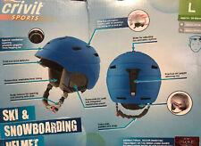 Ski & snowboard helmet( Blue) New (L)