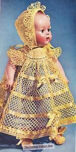 "1950's  BABY DOLL  15""  - COPY doll crochet pattern"