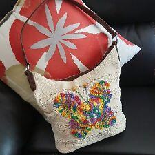 Jaclyn Smith Women's Purse Shoulder Bag Tote butterfly Zip Tan Medium FWUW