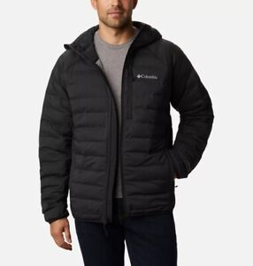Columbia Three Forks Puffer Hooded Jacket in Black S, M, L, XL