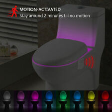Colour Auto Changing LED Toilet Bathroom Motion Activated Sensor Night Light_UK