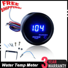 "Car Motor Black 2"" 52mm Blue Digital LED Fahrenheit Water Temp Gauge IN USA"