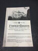 Franciscan Monastery Washington DC Vintage Souvenir Guide Pamphlet Booklet 15pg