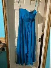 Coast   light  blue Dress Size 14 Lined strapless very elegant & stylish