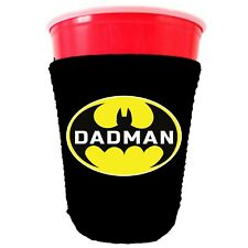 Dadman Neoprene Collapsible Party Cup Coolie, Father's Day Funny Gift