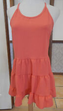 Starling Open Back Tiered Summer Tunic - Coral - AUS Size 12-14 - BNWT