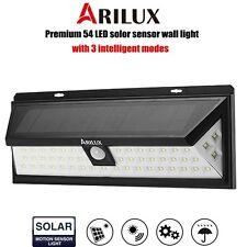 ARILUX Solare 54 LED Stagno Sensore Mozione Parete Luce Lampada Giardino IP65