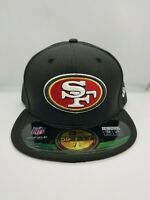 NEW ERA 59FIFTY FITTED HAT.  NFL.  SAN FRANCISCO 49ERS.  BLACK.