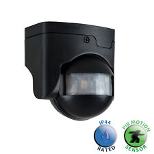 Modern Black Plastic Outdoor PIR Motion Sensor Security Infrared Presence IP44