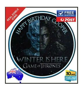 Game of Thrones Edible Icing Sheets Birthday Cake Decoration Topper Image 19cm