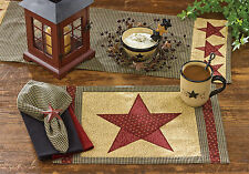 Placemat - Country Star by Park Designs - Kitchen Dining - Black Gold Red