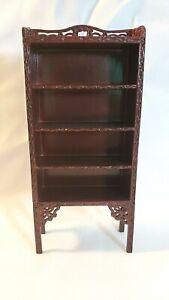 Miniature Dollhouse Wooden Bookcase/ Shelving