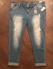 NWT Women's AMETHYST Bodycon Plus Size Distressed Jegging Skinny Jeans Size 20