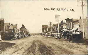 White SD Brookings County Gala Day c1910 Real Photo Postcard CRISP IMAGE