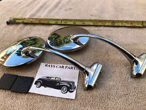 NEW VINTAGE STYLE SIDE VIEW MIRRORS 37 40 47 49 50 52 CAR TRUCK
