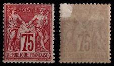 SAGE 75c carmin Type I, Neuf * Gommé = Cote 1.400 € / Lot Classique France n°71