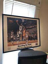 1992 Olympic Team Michael Jordan Framed Poster 29 X 23 Bart Forbes