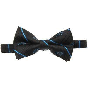 NFL Men's Carolina Panthers Black Oxford Bow Tie