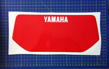 Tabella ant Yamaha XT6002KF86//89 bianca //rossa adesivi//adhesives//stickers//decal