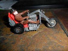 1972 Hot Wheels Rrrumblers Redline Era Motorcycles Torque Chop & Brown Rider Hat