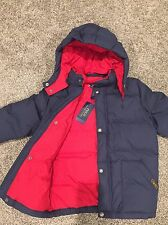 New NWT POLO RALPH LAUREN $165 Boys Down Puffer Jacket Navy/Red 6