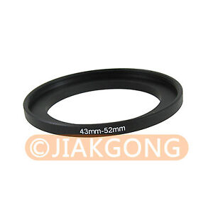 43mm-52mm 43-52 mm 43 to 52 Step Up Ring Filter Adapter