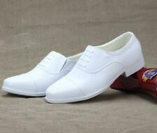 Mens Oxford Wedding White Lace Up Shoes Low Top Business Dress Formal Leather SZ