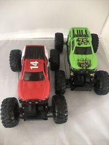 Lot Of 2 ~ Maisto ~ Rock Crawler RC Baja Trucks ~ Red & Green ~ NO REMOTES