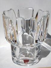 "Vase ORREFORS ""Corona "" SIGNIERT+ ETIKETT Design Lars HELLSTEN Glas aus Schweden"