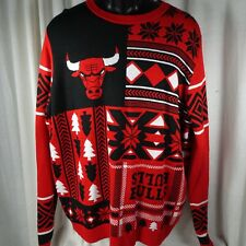 NBA Chicago Bulls Ugly Holiday Sweater Sz XL Acrylic Mens Womens Unisex