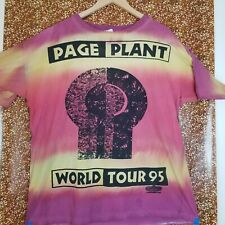 New listing Vintage Jimmy Page & Robert Plant T-Shirt Xl World Tour 95 All Over Print