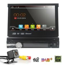 """7""""Android 7.1 1 Din Wifi GPS Flip Car Stereo Radio Player Touchscreen USB SD DVD"""