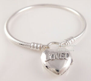 YOU ARE LOVED PADLOCK Authentic PANDORA Silver SMOOTH Bracelet 597806 PICK Sz