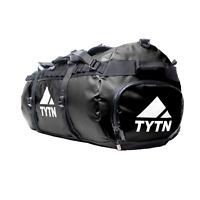 TYTN 90L Expedition Duffel for Travel & Sport - BLACK YKK Aquaseal Zips
