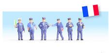 Noch 15269 H0 Figuren Bahnbeamte Frankreich
