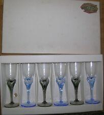 VINTAGE Set di 6 BOHEMIA Crystal mano soffiato vino/Porta/Sherry Bicchieri in Scatola