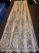 "New delicate vintage style white lace panel - 54"" drop"