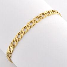 "Modern Fancy Links 14k Solid Gold Bracelet Flexible and Smooth 8"" Long for Unix"