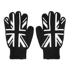 New Punk Mens UK United Kingdom Great Britain Union Jack Flag Black Work Gloves