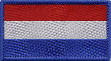 Netherlands Dutch Holland Flag, Woven Badge, Patch 8cm x 4.5cm