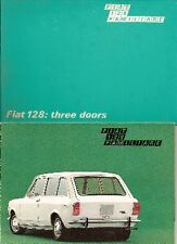 Fiat 128 1100 Estate 1970-71 UK Market Sales Brochure Portfolio
