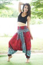 Harem Aladdin Casual Trouser Boho Baggy Men Woman Yoga Indian Hippie Gypsy Pants