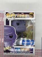 Funko Pop! Marvel Avengers Infinity War Thanos #296 Walmart Ex IMPERFECT BOX L05