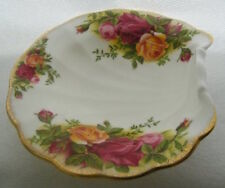 Old country roses Shell Tray SCATOLA ROYAL ALBERT piatto a conchiglia BOMBONIERA