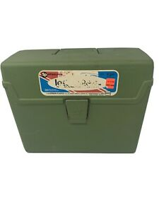 Vintage 1972 Sterling Plastics Original Retro Green Letter File Box