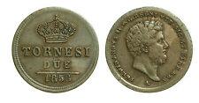 pci2616) Napoli Regno delle Due Sicilie Ferdinando II - 2 Tornesi 1858