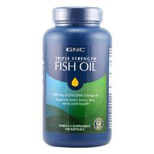 GNC Triple Strength Fish Oil  1000 mg of EPA/DHA Omega-3  120 softgels