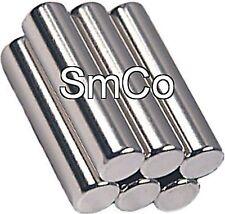 6 Samarium Cobalt Magnets 1/4 x 1 inch Cylinder SmCo30