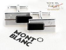 Montblanc Gemelos Plata & Resina preciosa EXCELENTE Plata & Resina cuff-links